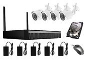 KIT CCTV WIFI DVR + 4 CÁMARAS CON DISCO DE 1TB